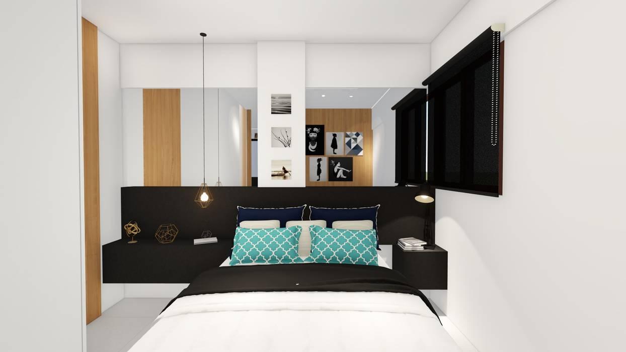 Small bedroom by Sônia Beltrão Arquitetura , Modern Wood Wood effect