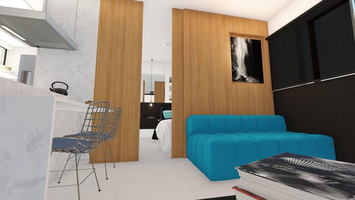 Sala/ Sofá/ Divisória/ : Salas de estar  por Sônia Beltrão Arquitetura ,Moderno MDF
