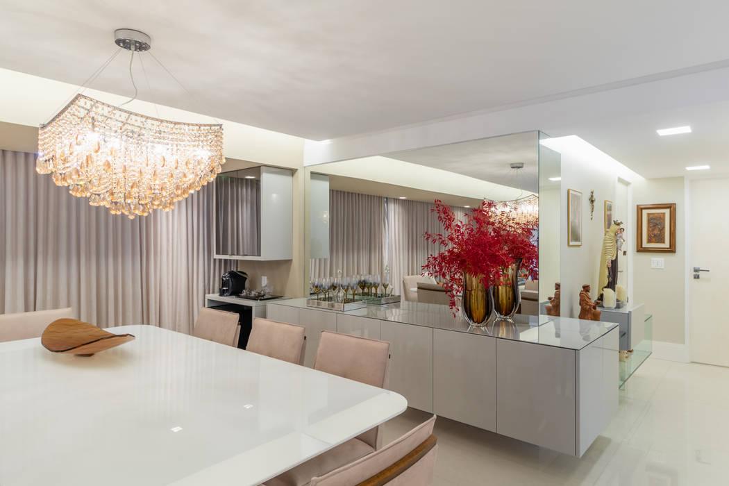 Sala De Jantar Aparador Espelho Lustre Salas De Jantar Modernas Por Arquitetura Sonia Beltrao Associados Moderno Homify