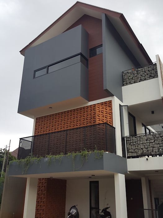 Casa de Sirsak Oleh agata architects Modern Batu Bata