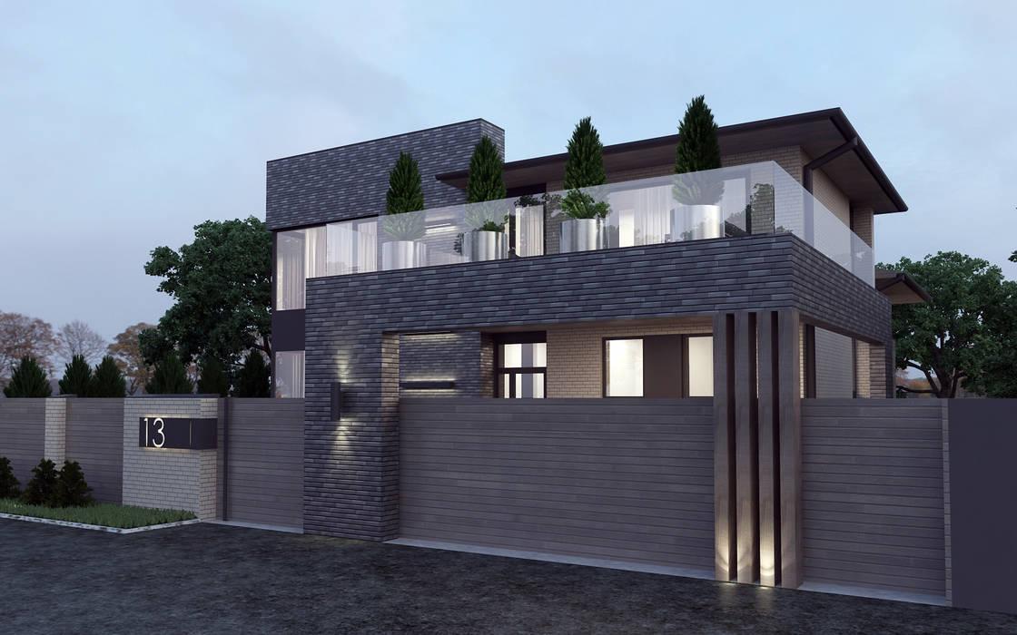Жилой дом в кп. Олимпийский г. Аксай от studio forma Эклектичный Кирпичи