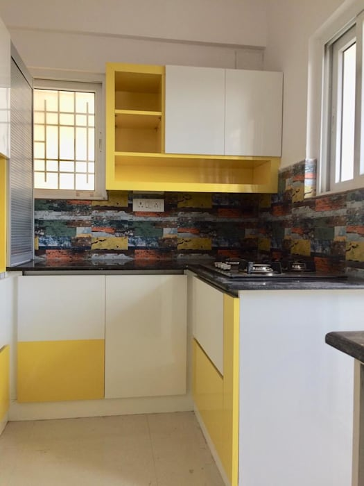 Mrs.Alifiya's Residence, Mahaveer Reviera, J.P.Nagar, Bangalore:  Kitchen by Design Space