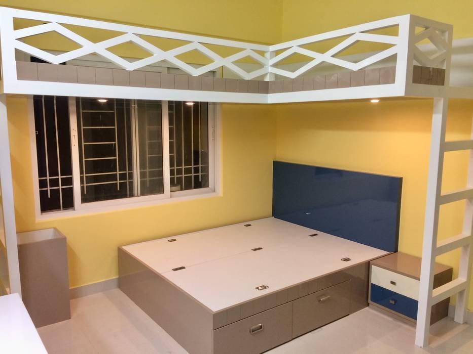 Mrs.Alifiya's Residence, Mahaveer Reviera, J.P.Nagar, Bangalore:  Bedroom by Design Space