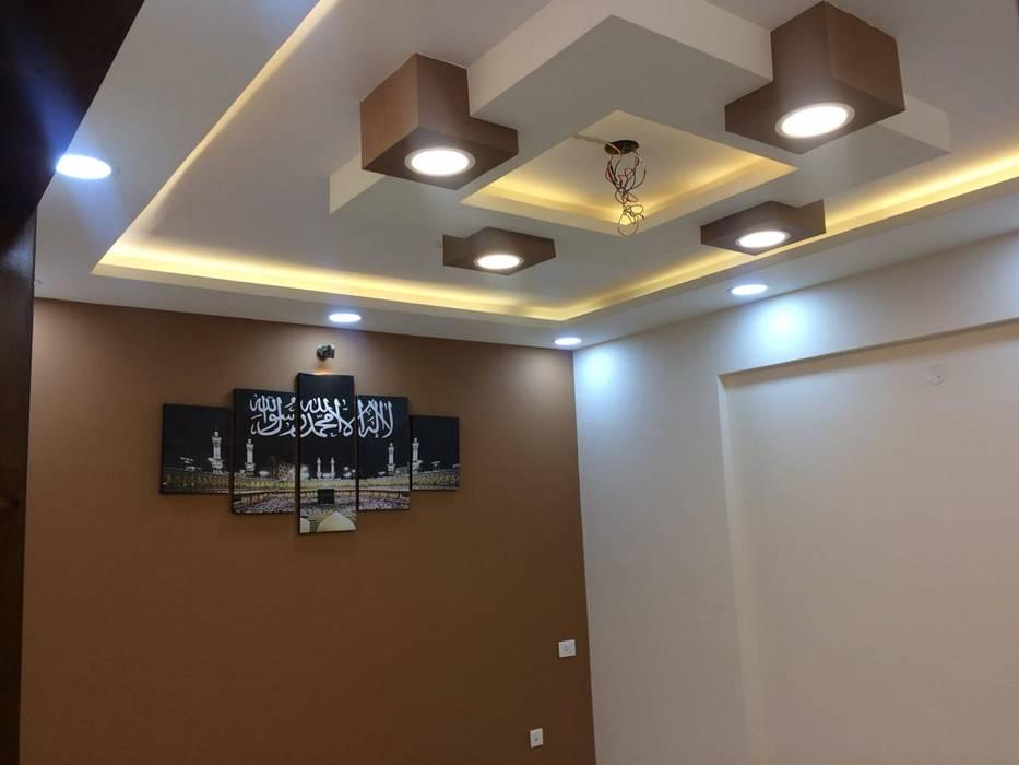 Mrs.Alifiya's Residence, Mahaveer Reviera, J.P.Nagar, Bangalore Modern living room by Design Space Modern