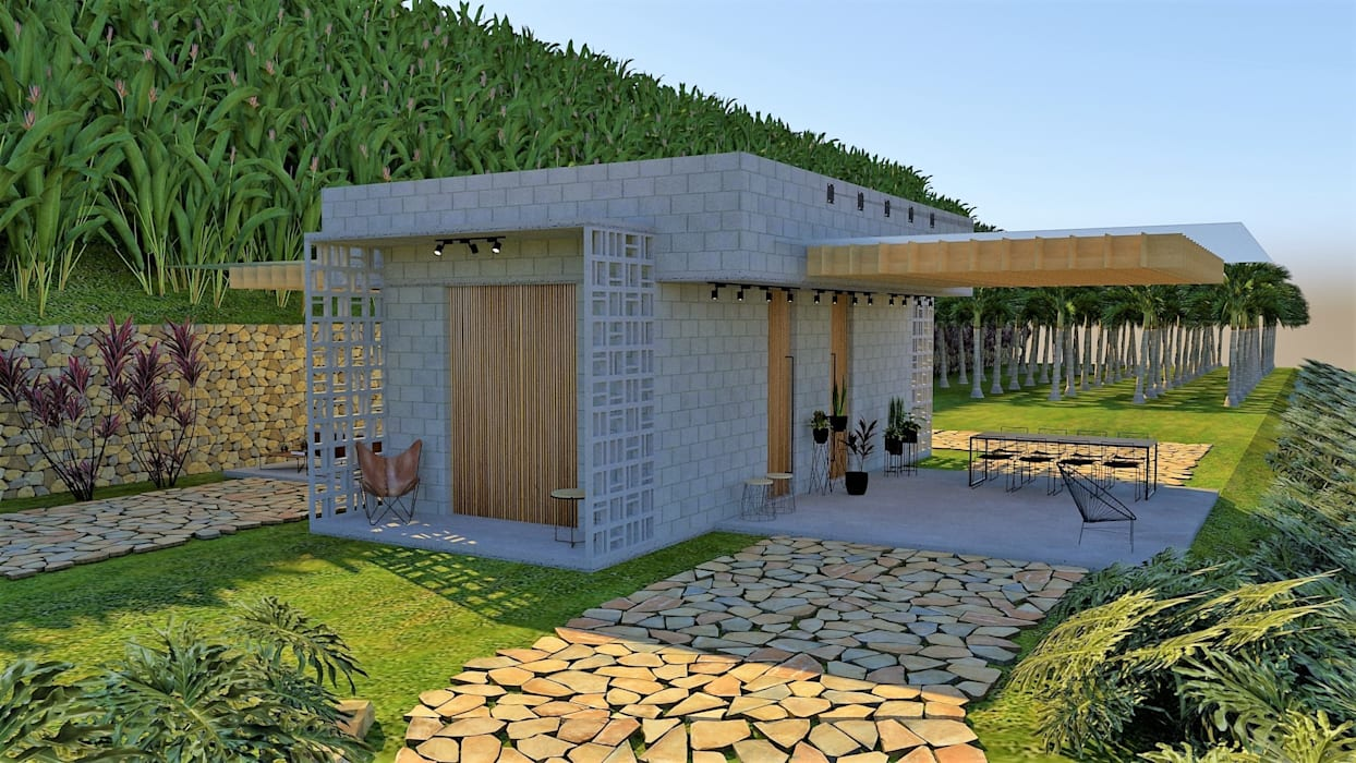 Cabañas de estilo  por Pedro Ivo Fernandes | Arquiteto e Urbanista,