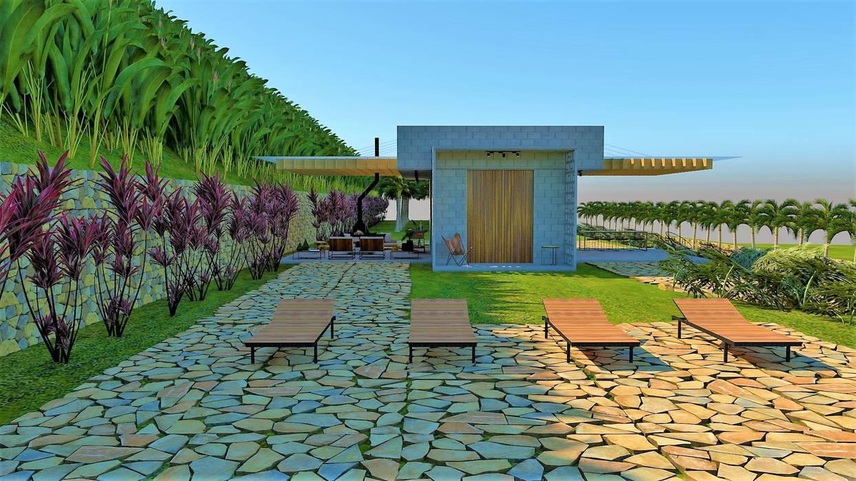 Cabañas de estilo  por Pedro Ivo Fernandes   Arquiteto e Urbanista,