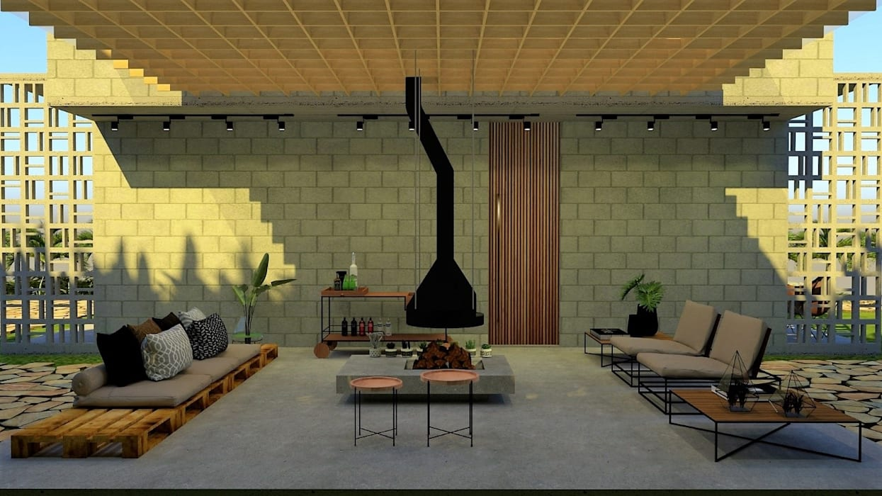 Cabañas de estilo  por Pedro Ivo Fernandes | Arquiteto e Urbanista, Rural