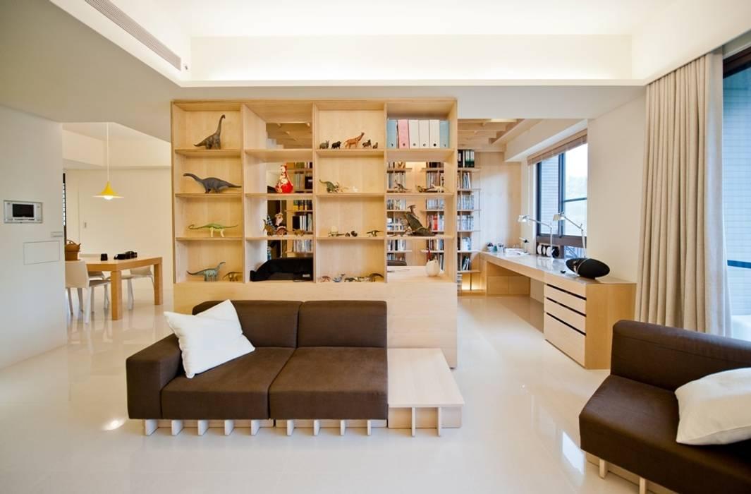 Ruang Keluarga oleh 直方設計有限公司, Skandinavia