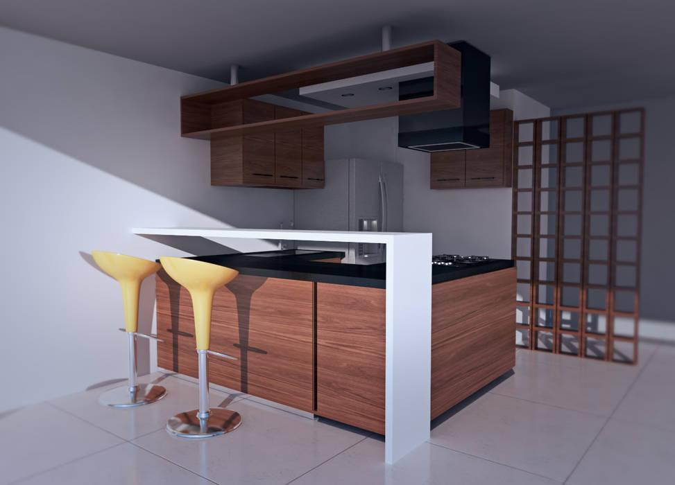 Casa prados del norte,cali: Cocinas de estilo  por Am arquitectura, Moderno