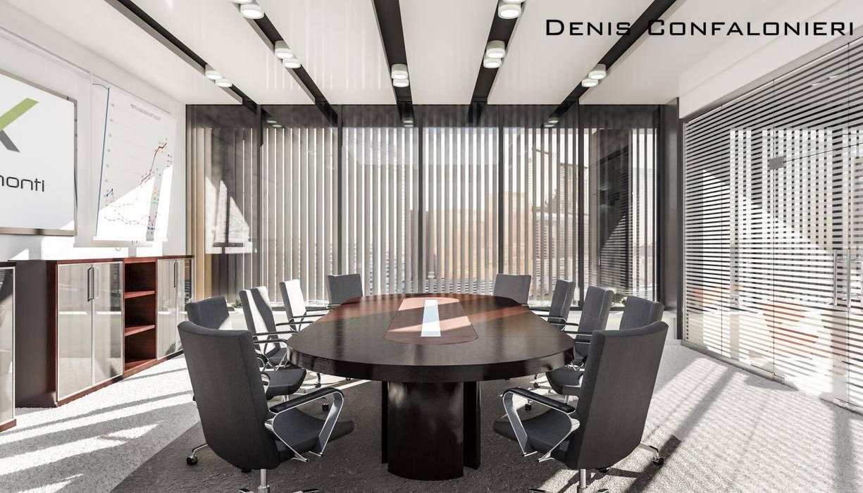 Sala Riunioni: Complessi per uffici in stile  di Denis Confalonieri - Interiors & Architecture