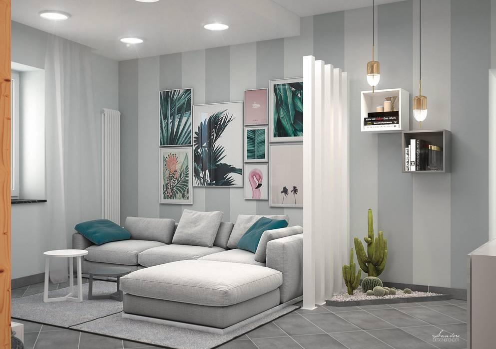 Zone giorno - Design & Render: Soggiorno in stile  di Santoro Design Render, Moderno