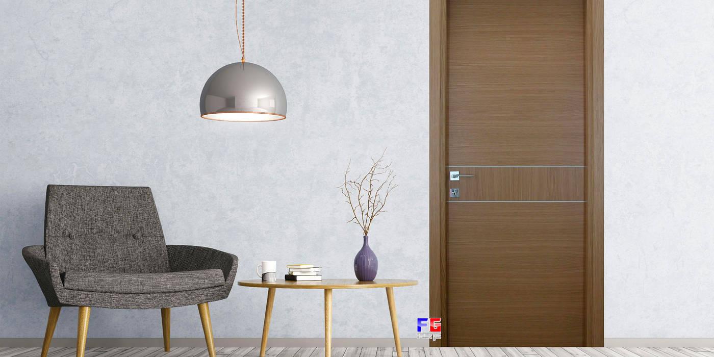 Puertas interiores de estilo  por AM PORTE SAS, Moderno Madera Acabado en madera