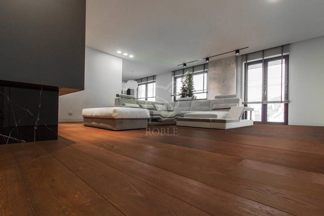 Deski Warstwowe Roble Roble Podłogi Drewno Brązowy