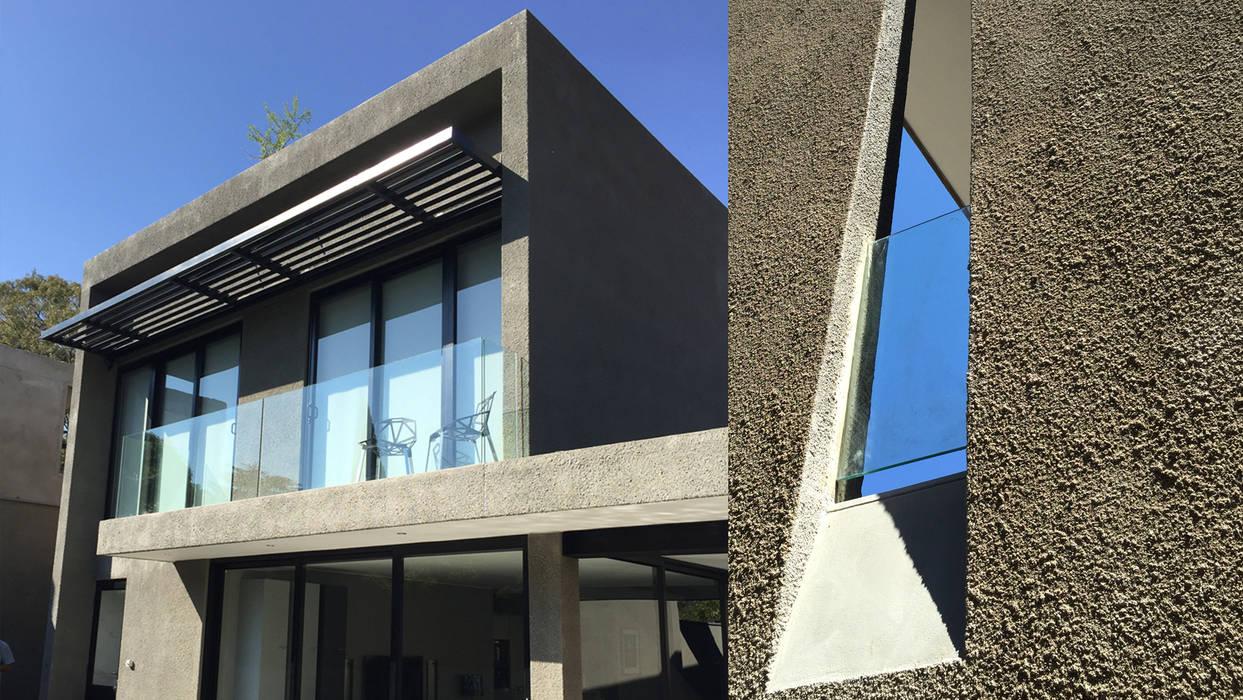 Huneberg Viljoen Architects Minimalist house Grey