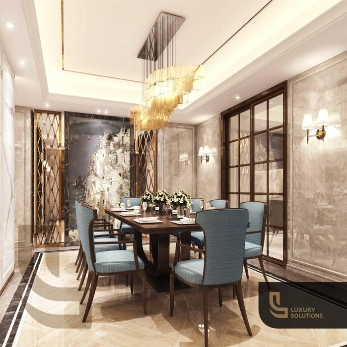 دبي:  غرفة السفرة تنفيذ Luxury Solutions, كلاسيكي البلاط