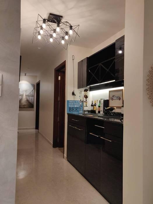 Bar:  Wine cellar by Rashi Agarwal Designs,Minimalist Plywood