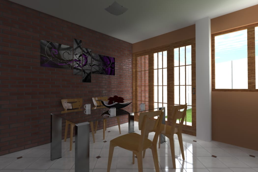Comedor Comedores de estilo moderno de ARDI Arquitectura y servicios Moderno Ladrillos