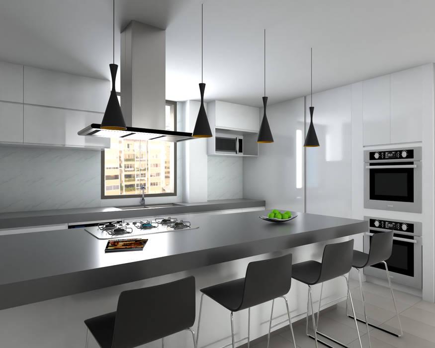 Cocina : Cocinas equipadas de estilo  por Proyectos C&H C.A, Minimalista