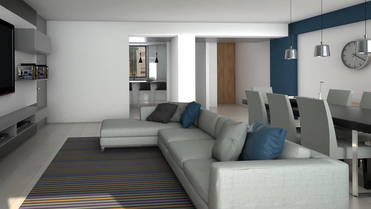 Sala : Salas / recibidores de estilo  por Proyectos C&H C.A, Moderno