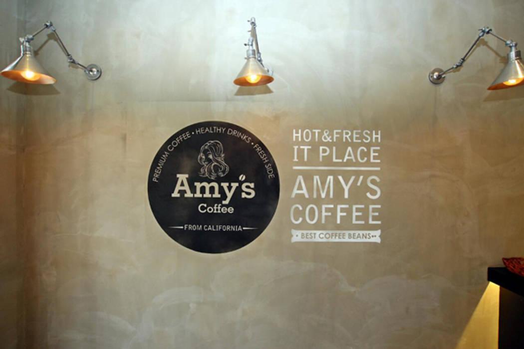 Amy's coffee 검단점: 모노웍스의  바 & 카페,인더스트리얼 콘크리트