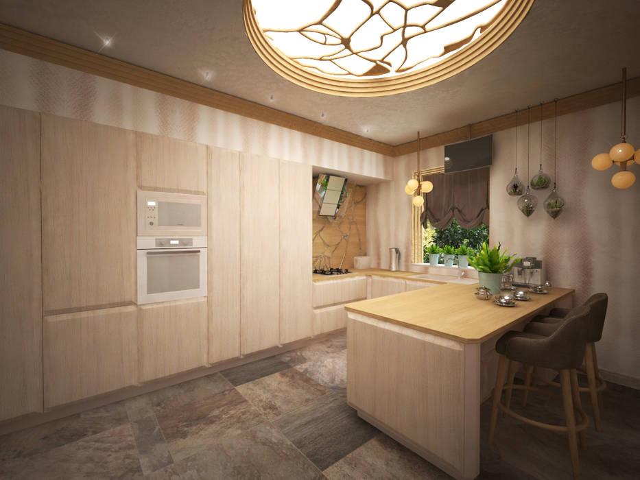 Кухня с легким модерном Кухня в стиле модерн от Дизайнер Темненко Ольга Модерн