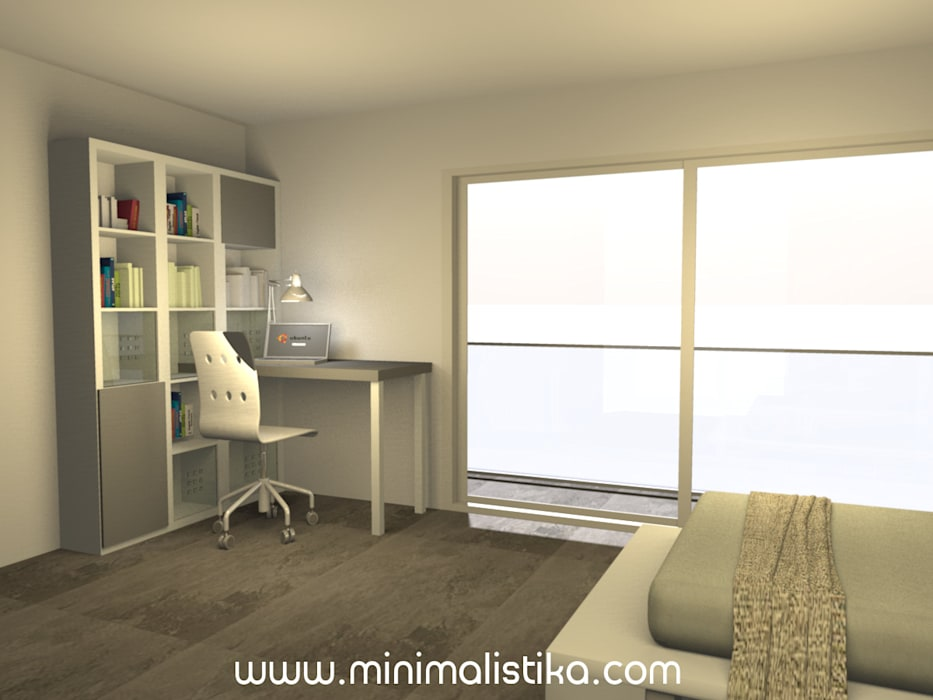 Dormitorio 15: Dormitorios juveniles  de estilo  por Minimalistika.com