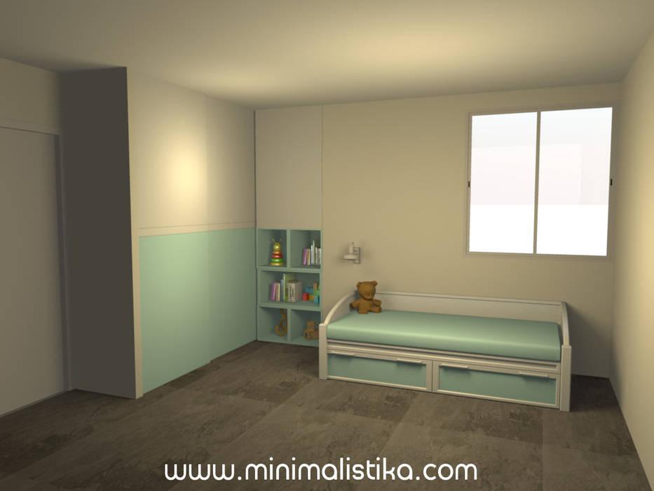 Dormitorio 2 de Minimalistika.com Minimalista Aglomerado