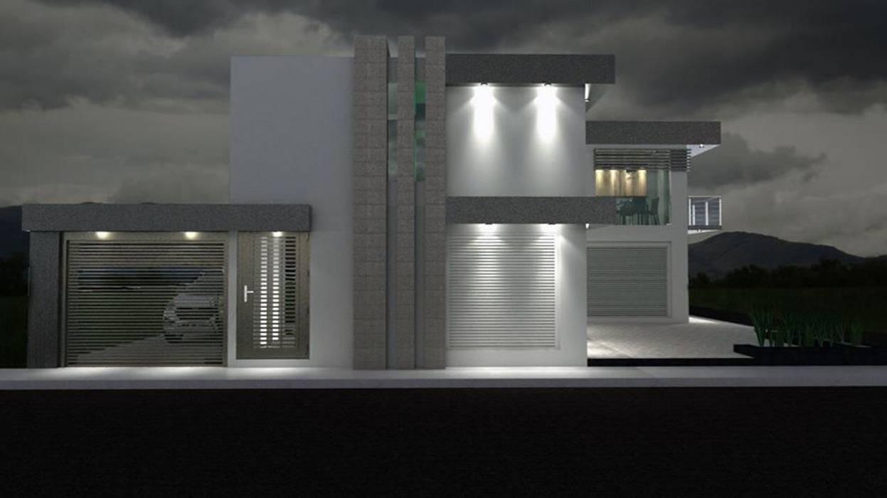 """""""CASA HORIZONTE"""" : Casas pequeñas de estilo  por A&E Diseño Arquitectonico"""