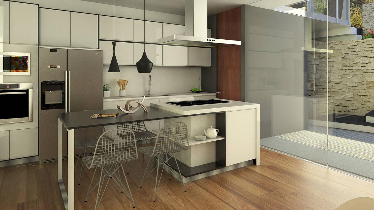 Cocina Cocinas de estilo moderno de Proyectos C&H C.A Moderno Cuarzo