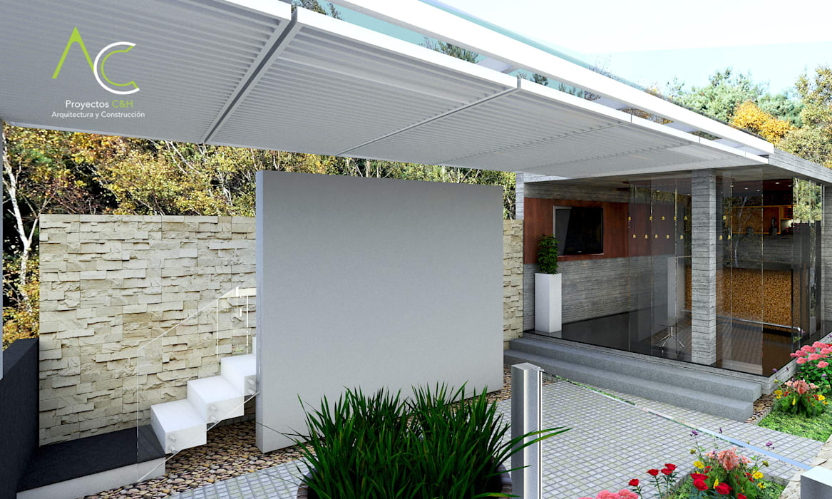 Terraza : Terrazas de estilo  por Proyectos C&H C.A,