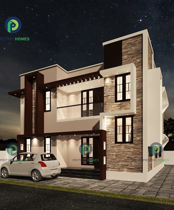 Top Construction Companies in Thrissur Prithvi Homes Asian style doors