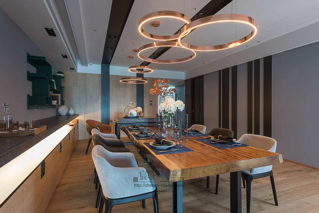 Modern Dining Room by 宸域空間設計有限公司 Modern
