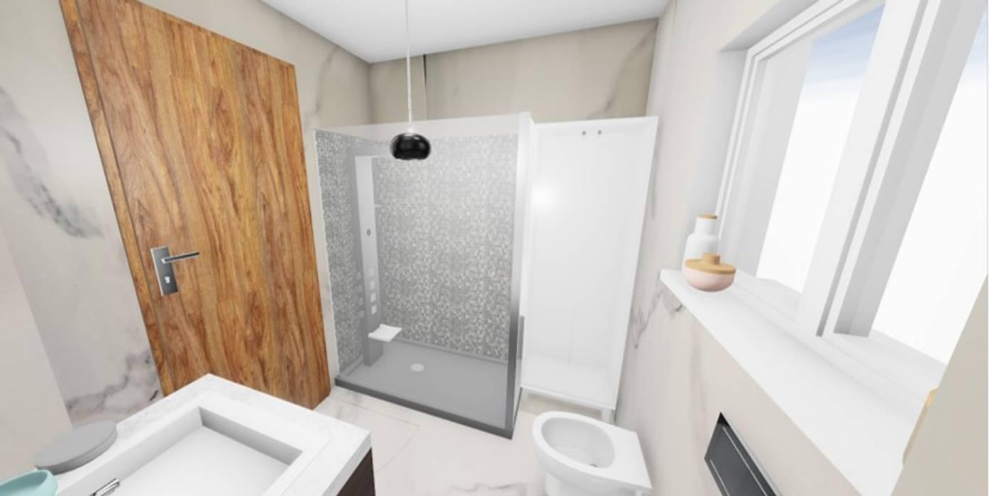 Renovação de WC 5m2: Casas de banho  por SweetYellow