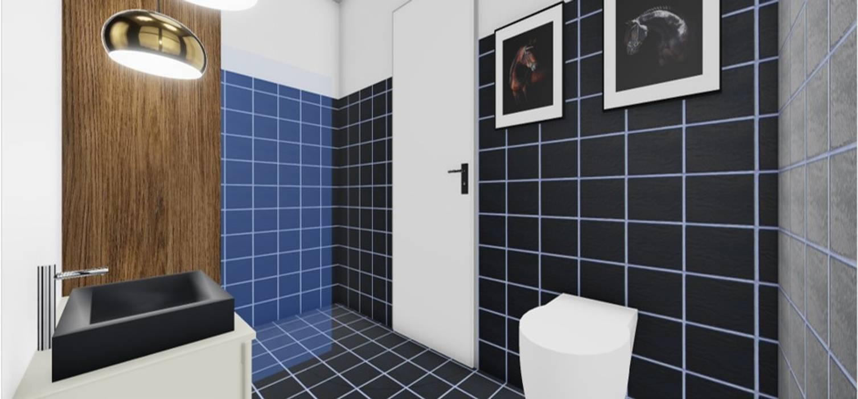 WC com Madeiras e Móveis Suspensos: Casas de banho  por SweetYellow