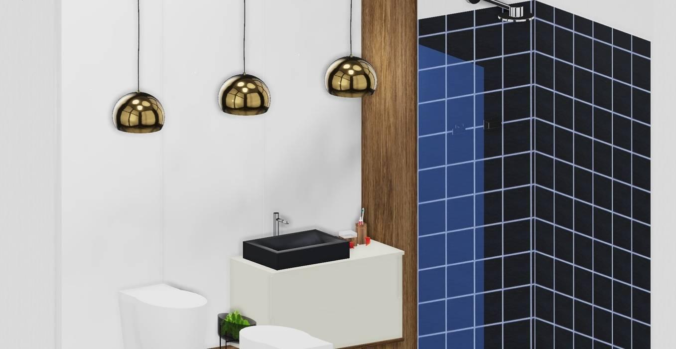 Parede WC em Vidro: Casas de banho  por SweetYellow