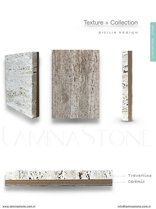 Paredes y pisos de estilo rústico de Lamına Stone Rústico Caliza