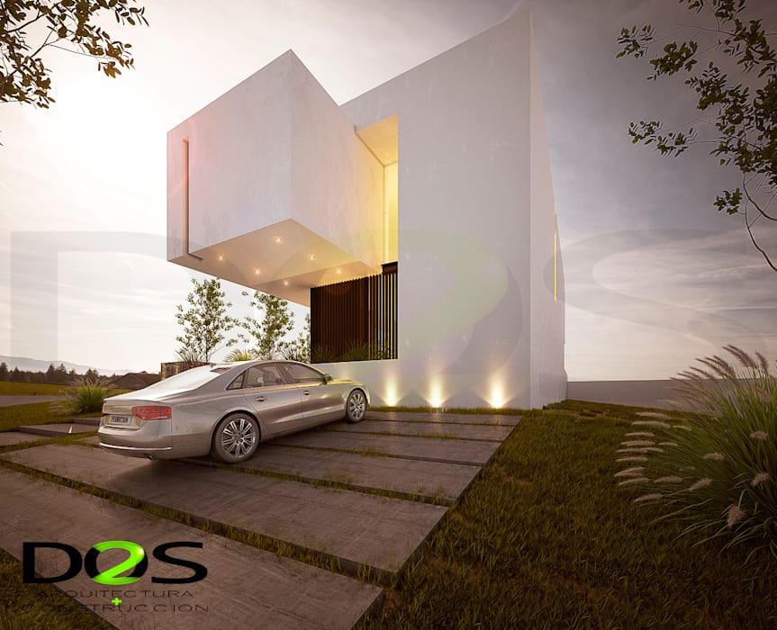 Arquitectos en Guadalajara, El Palomar, El Cielo Country Club, Valle Imperial, Monteverde, La Rioja: Casas de estilo  por DOS Arquitectura y construcción