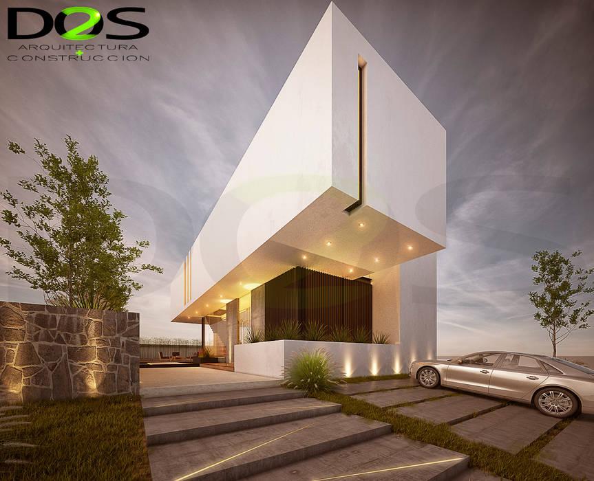 Casas Modernas En Guadalajara, Proyecto en La Rioja, Zona Senderos De Monteverde, Provenza, El Cielo Country Club y El Palomar: Casas de estilo  por DOS Arquitectura y construcción