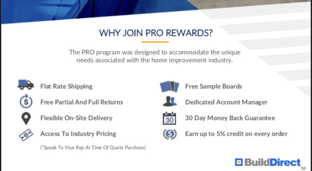 Pro Rewards with BuildDirect by BuildDirect Classic
