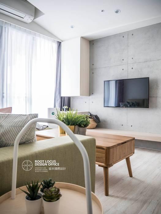Ruang Keluarga Gaya Skandinavia Oleh 築本國際設計有限公司 Skandinavia