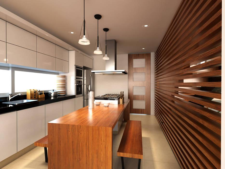 Cocina / Condominio Filadelfia (Ibagué - Tolima): Cocinas pequeñas de estilo  por Taller 3M Arquitectura & Construcción