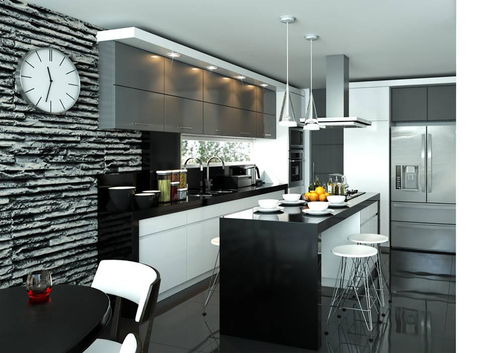 Cocina / Condominio Filadelfia (Ibagué - Tolima): Cocinas de estilo  por Taller 3M Arquitectura & Construcción,