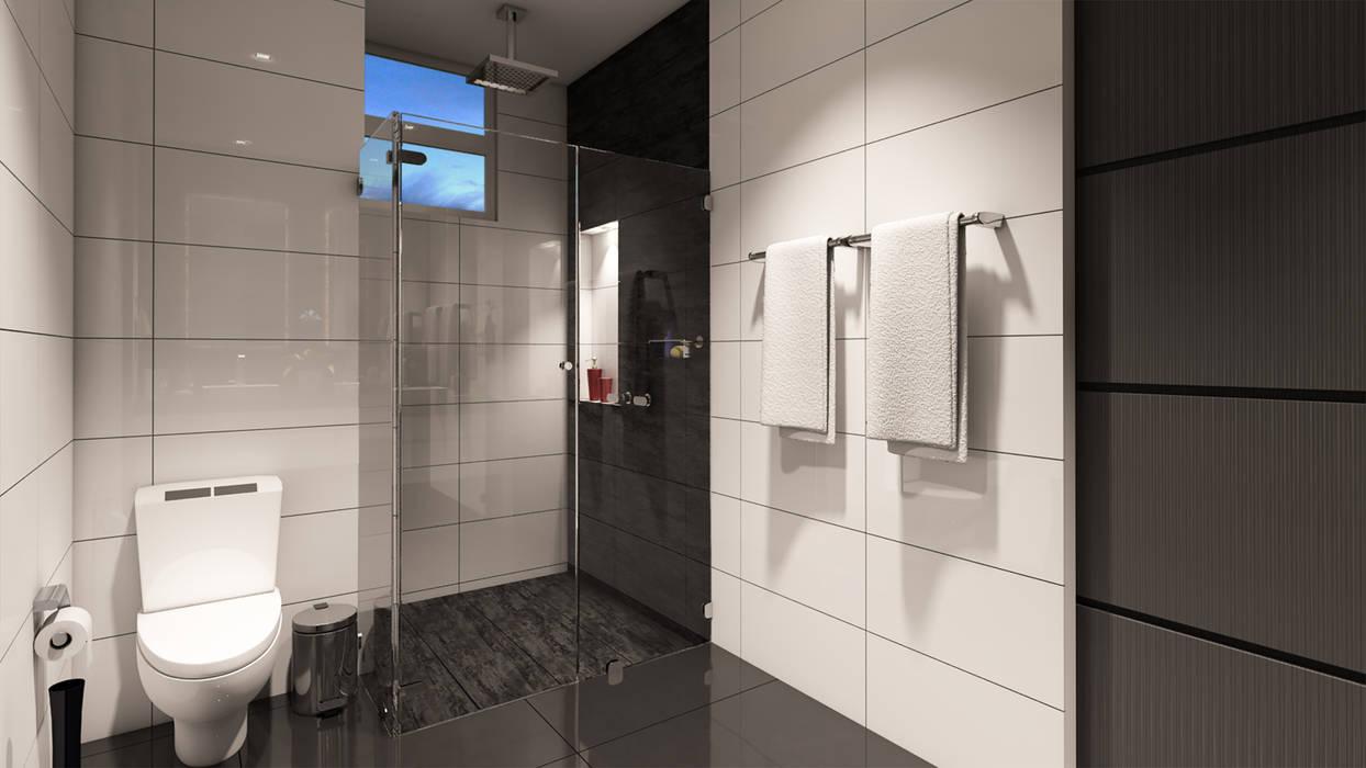 Baño / Condominio Filadelfia (Ibagué - Tolima): Baños de estilo  por Taller 3M Arquitectura & Construcción