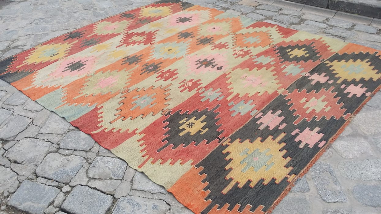 classic  by Heritage Nomadic Art Gallery, Classic Wool Orange