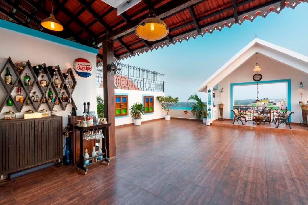 Apartment Interiors at Porvorim Goa:  Terrace by Finch Architects,Modern
