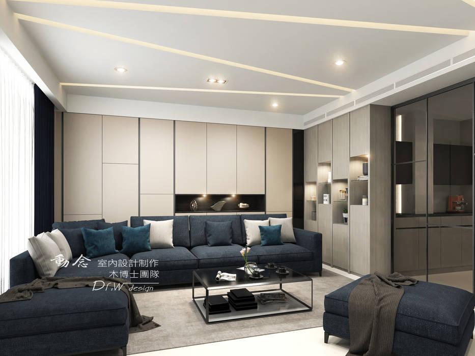 Salon de style  par 木博士團隊/動念室內設計制作, Moderne Verre