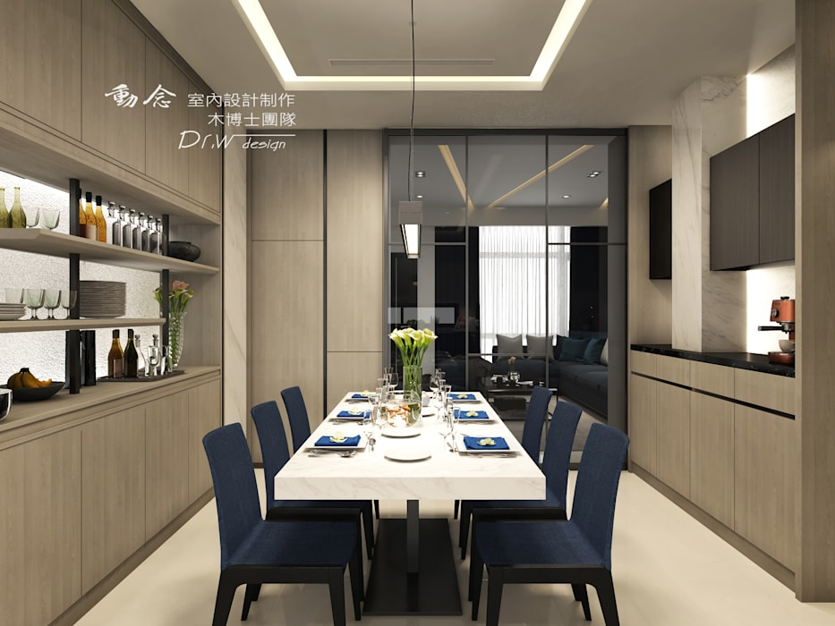 餐廳:  餐廳 by 木博士團隊/動念室內設計制作,