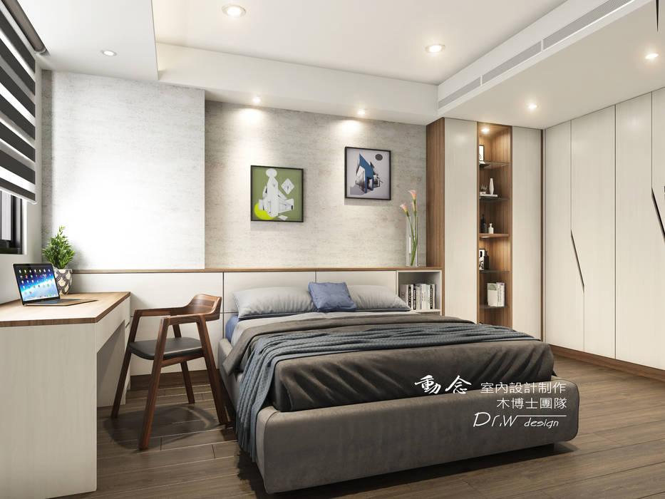 Small bedroom by 木博士團隊/動念室內設計制作,
