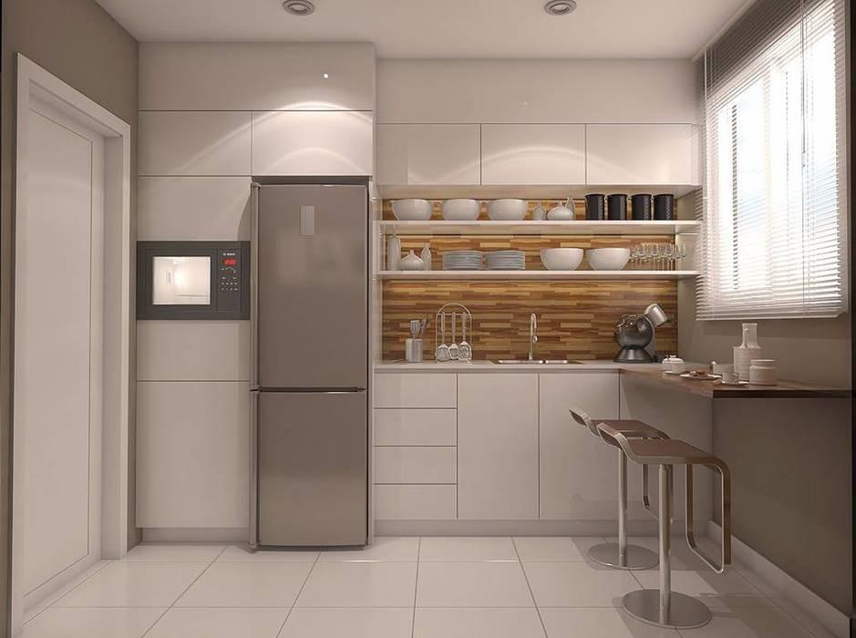 Cozinha moderna: Cozinhas pequenas  por Legrand Arquitetura