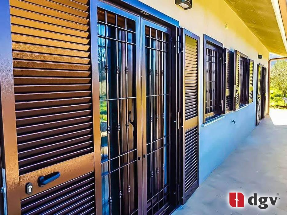 DGV metal srl Windows & doors Blinds & shutters Iron/Steel Brown